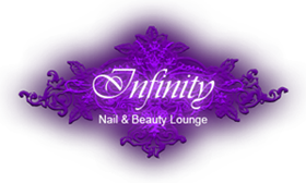Infinity Nail & Beauty Lounge Logo und Home Button