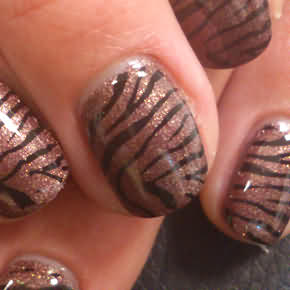 Metallic Glitzer braunes Full Cover mit Tiger Stamping in Business Form